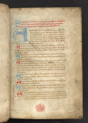 Alphabetical Index, In The Cartulary Of Arbroath Abbey f.1r